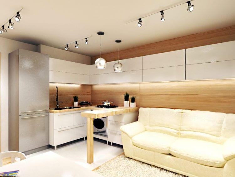 Кухня-гостиная площадью 14 кв. м.