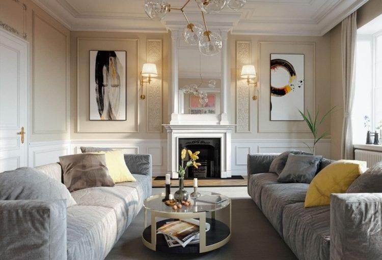 Мебель для гостиной в стиле современной классики