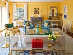 Гостиная в желтых тонах – солнечное настроение в любое время года