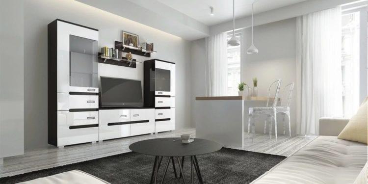 Модульная белая мебель для гостиной