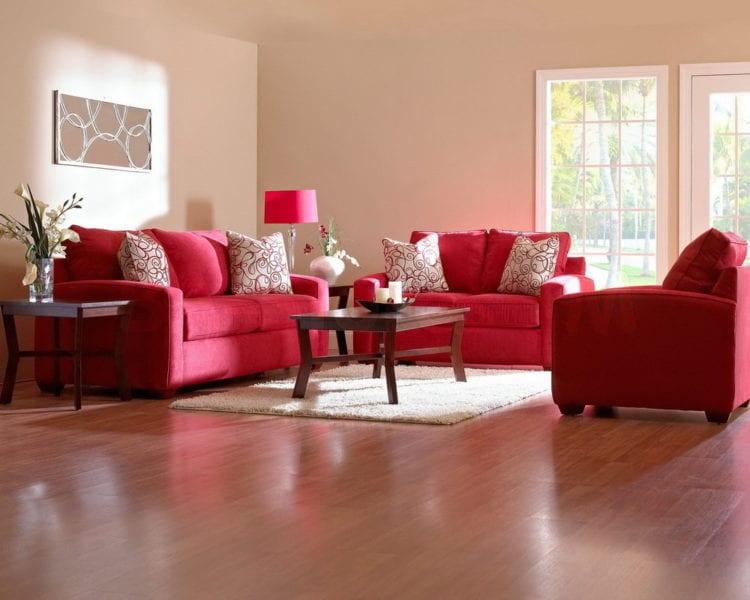 Красная гостиная: выбираем красные шторы и другие элементы интерьера