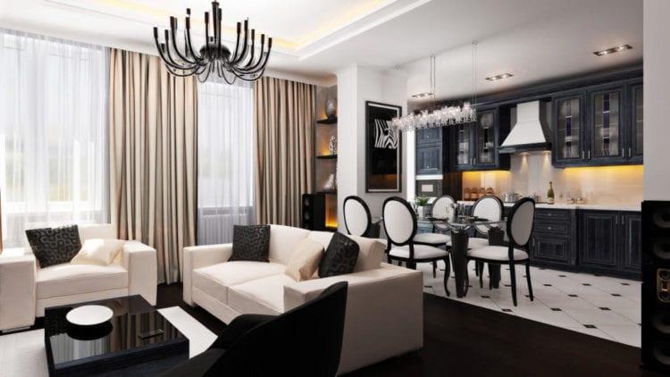 Кухня-гостиная 30 кв м дизайн