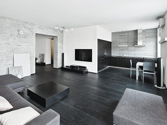 Черно-белая гостиная – эксклюзивная палитра для любого стиля