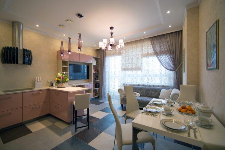 Как правильно зонировать кухню-гостиную 19 кв. м