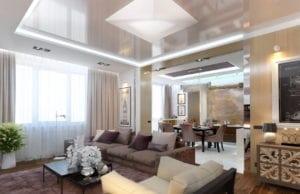 Оформление гостиной 24 кв. м.: создаем уютный дизайн с кухней или спальней