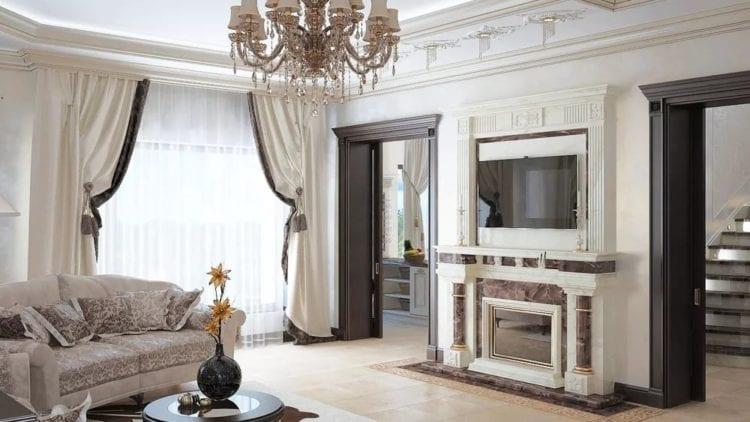 Современная классика - отличный вариант для гостиной