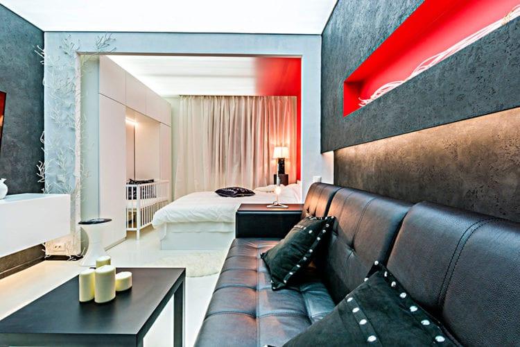Дизайн спальни-гостиной 18 кв м