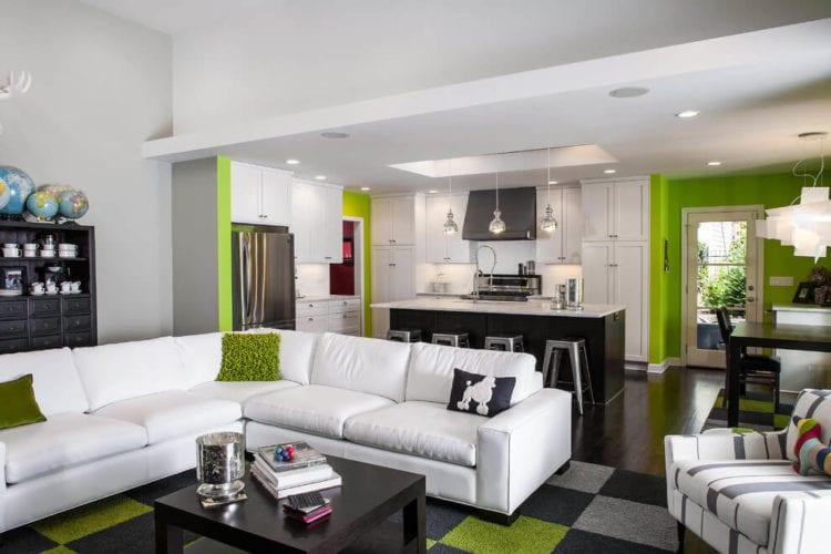 Дизайн гостиной 30 кв. м