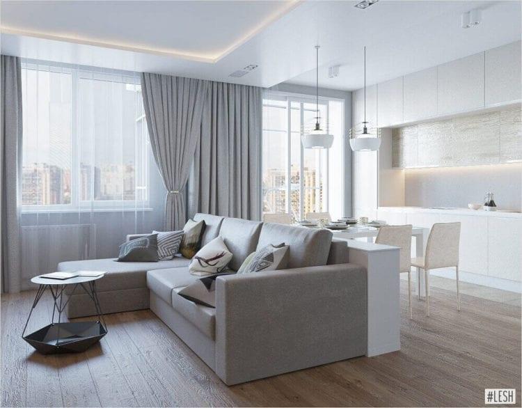 Дизайн квартиры в стиле легкий минимализм