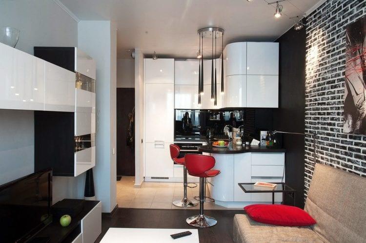 Кухня-гостиная 12 кв. м.