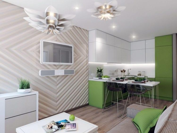 Кухня-гостиная площадью 14 кв. м: как создать стильный интерьер
