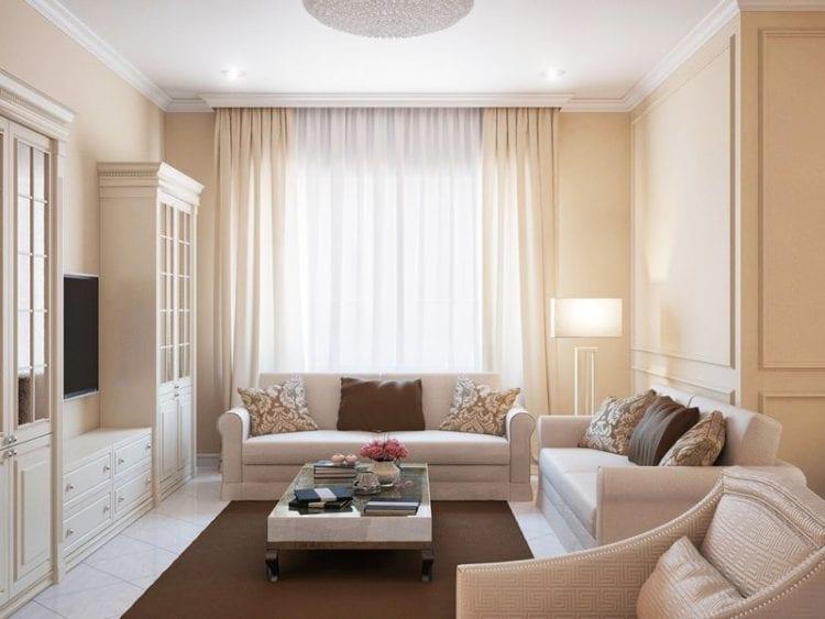 Современный интерьер маленькой гостиной