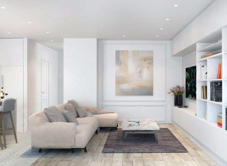 Дизайн белой гостиной – нарядный интерьер для любой комнаты