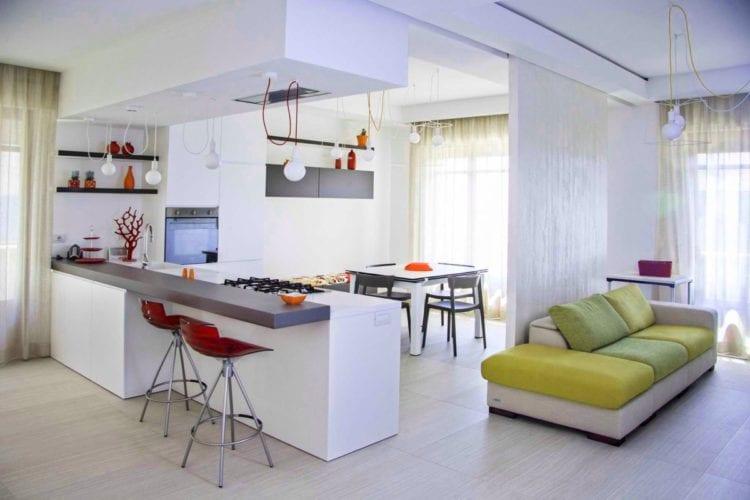 Кухня-гостиная 25 кв. м