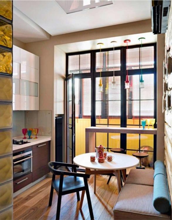 Кухня-гостиная площадью 12 кв. м.