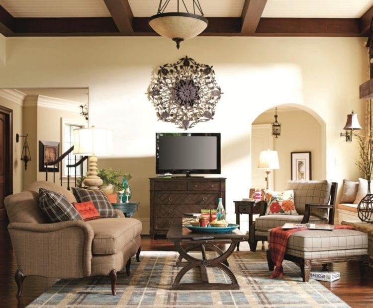 Cовременные гостиные в роскошном современном стиле с винтажной мебелью