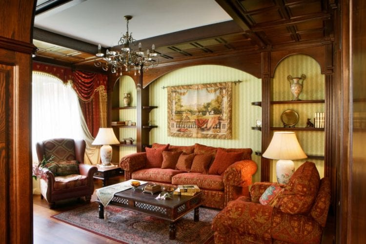 Цветовая палитра английской гостиной