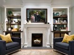 Телевизор над камином в интерьере гостиной: интересные решения для стильной обстановки