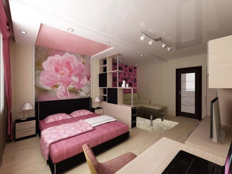 Зонирование комнаты 20 кв. м. на спальню и гостиную