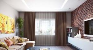 Дизайн гостиной 18 кв. м в современном стиле
