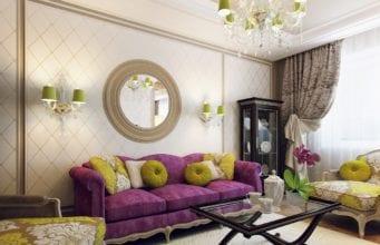 Дизайн стены над диваном в гостиной: интересные варианты и особенности использования декора