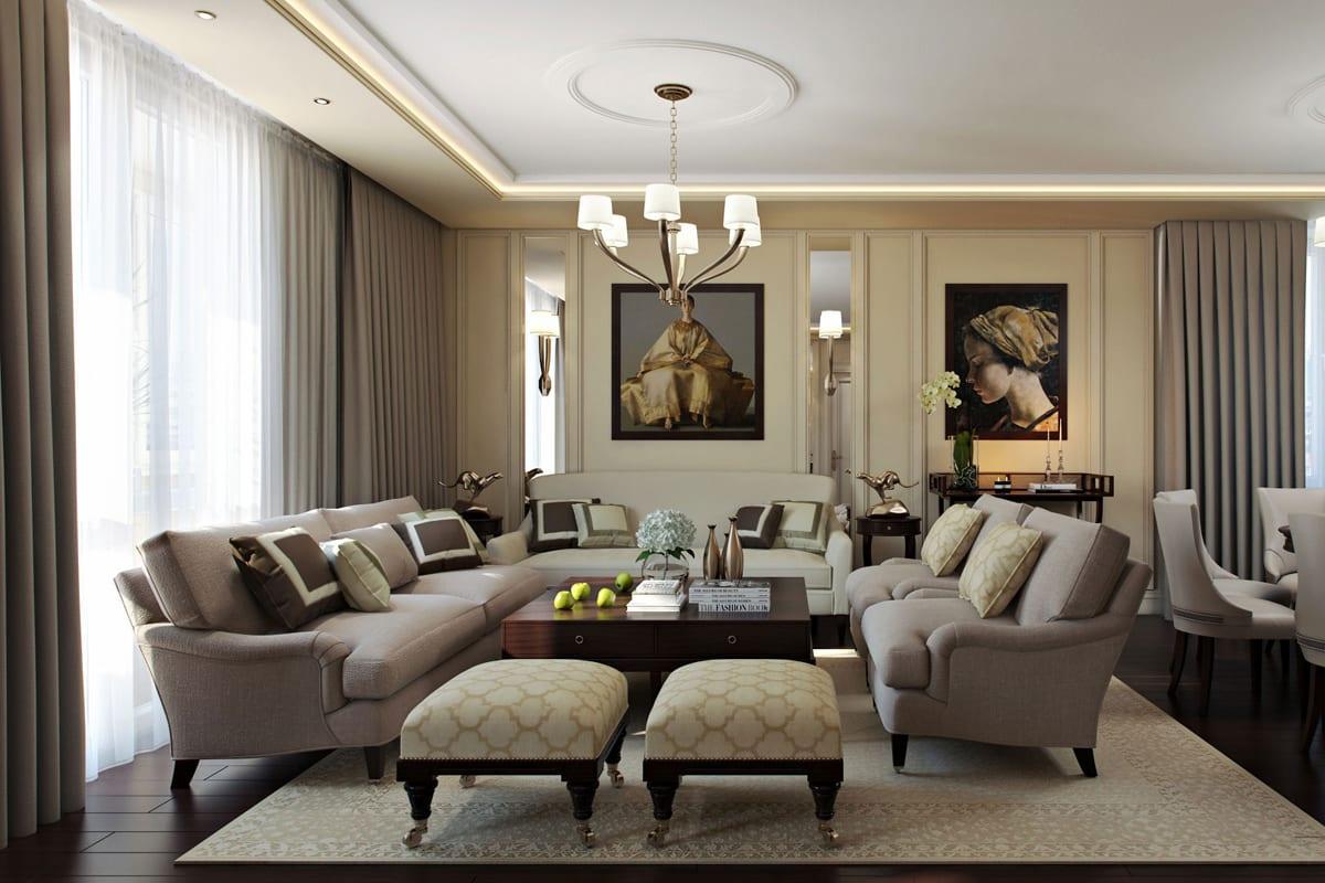 Дизайн гостиной в стиле арт-деко – сочетание роскоши, изящества и гламура