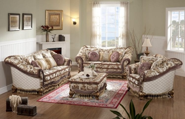 Мягкая мебель из ткани жаккард