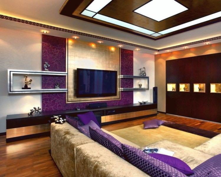 Гостиная 20 кв. м. в стиле ар деко