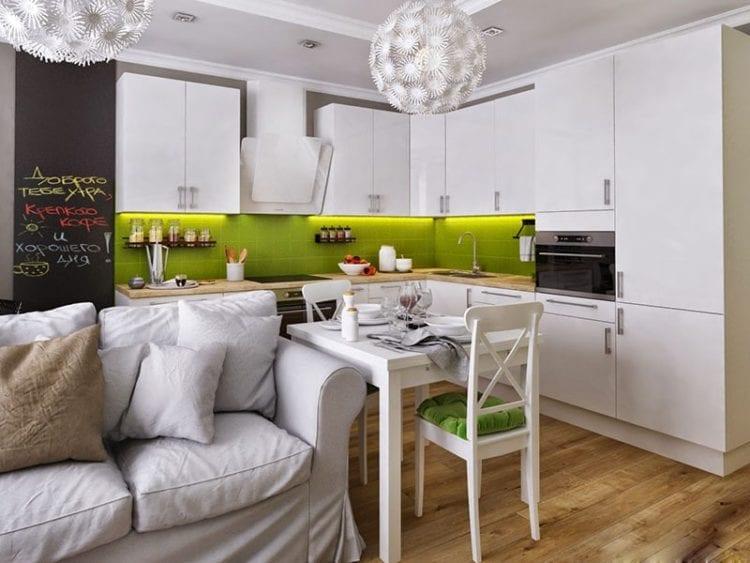 Дизайн кухни-гостиной площадью 18 кв. м: как удобно организовать многофункциональное пространство