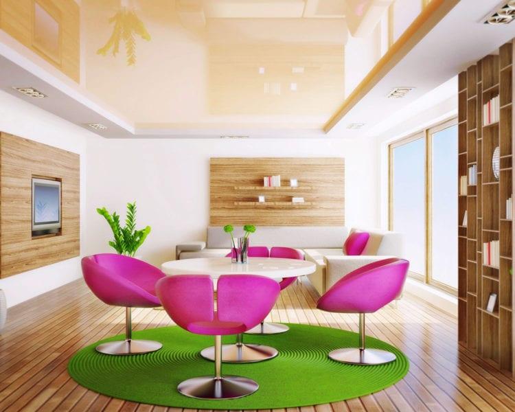 Дизайн натяжных потолков для зала