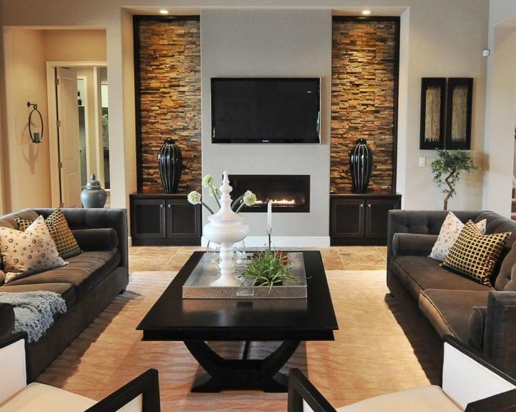 Дизайнерские камины в современной гостиной