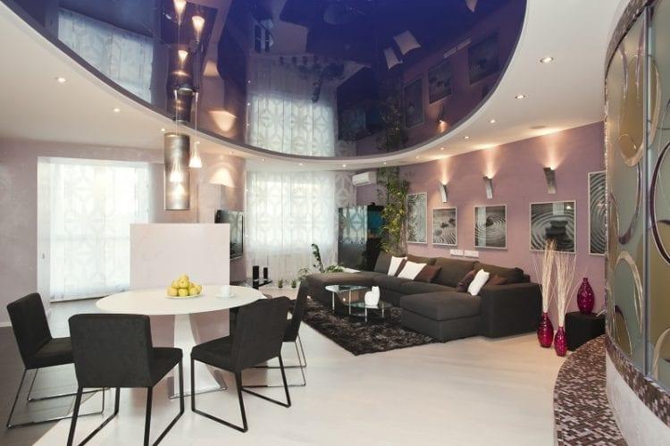 Дизайнерские натяжные потолки для зала