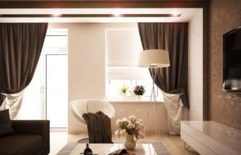 Интерьер гостиной эконом-класса в современном стиле: идеи дизайна