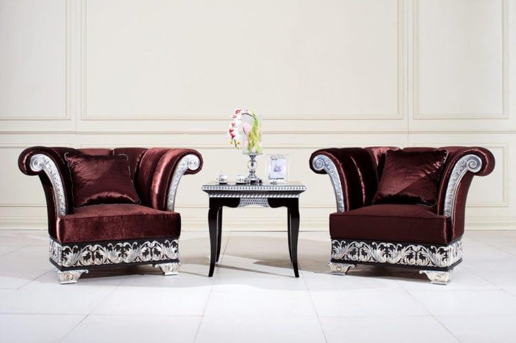 Кресла в гостиной в стиле арт-деко