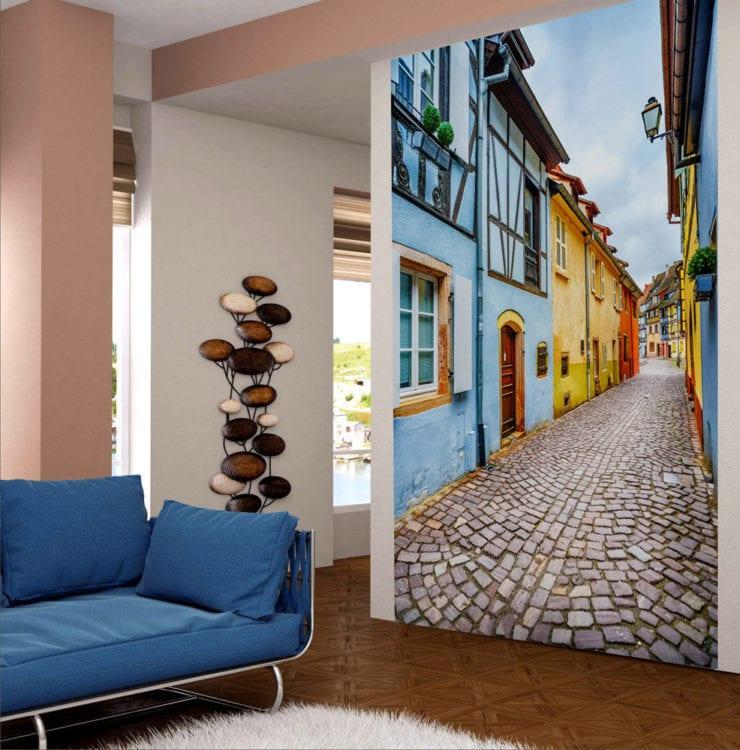 Фотообои увеличивающие пространствоФотообои в коридоре чтобы расширить пространствоФотообои в гостиную расширяющие пространство фотоРисунки расширяющие пространство на стене