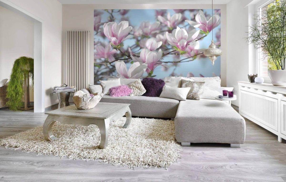 Фотообои в гостиную или зал: особенности выбора и применения