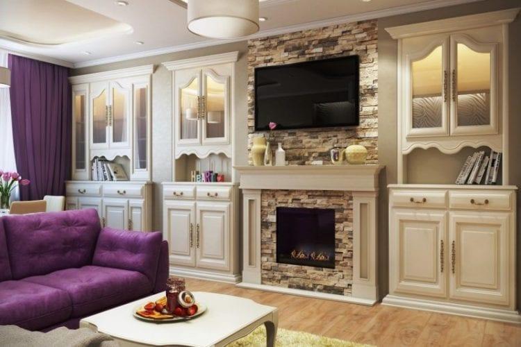 Каминная зона в гостиной