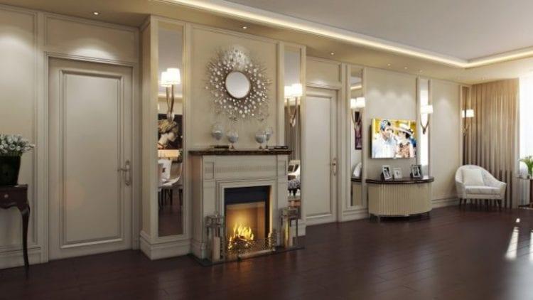 Зеркала в гостиной в стиле арт-деко
