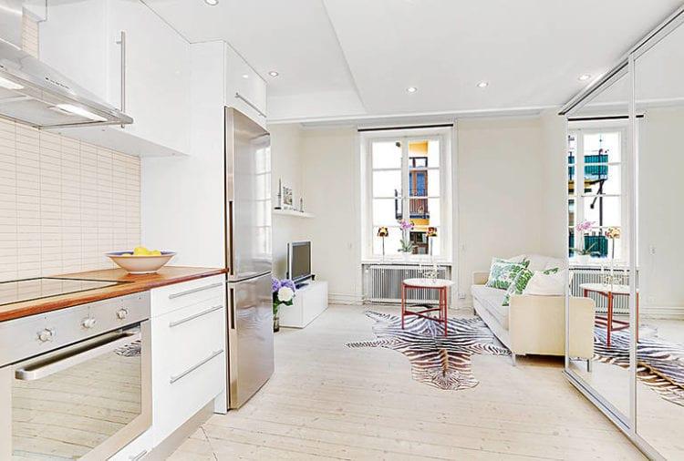 Дизайн кухни-гостиной площадью 20 кв. м с зонированием: планировка, особенности оформления и выбор стиля