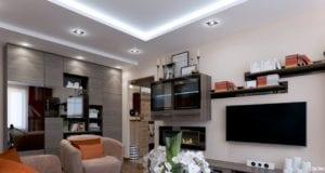 Дизайн гостиной комнаты 19 кв. м