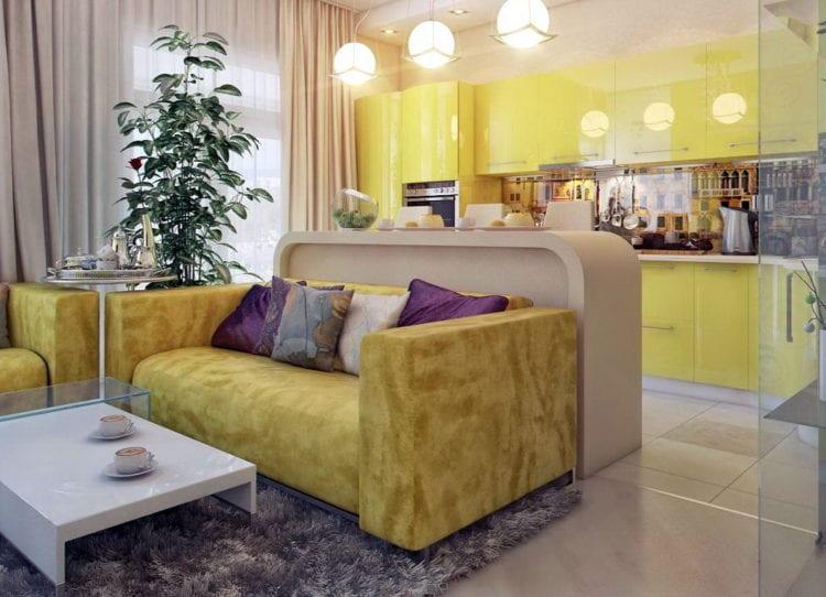 Дизайн кухни-гостиной площадью 18 кв. м