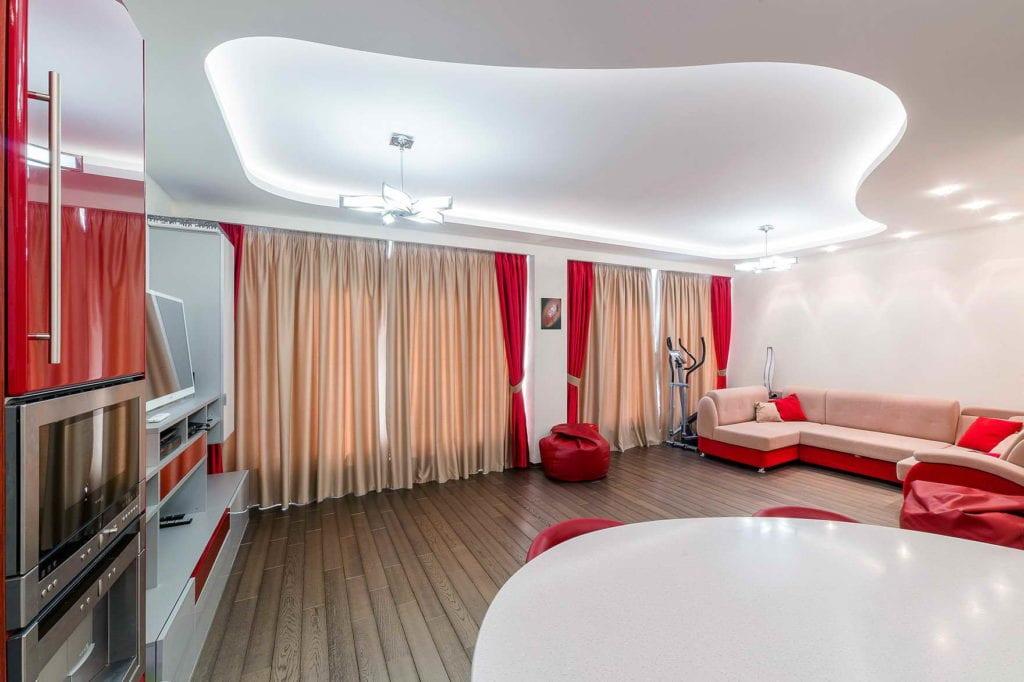 подвесные потолки фото для зала двухуровневые что всю сумму