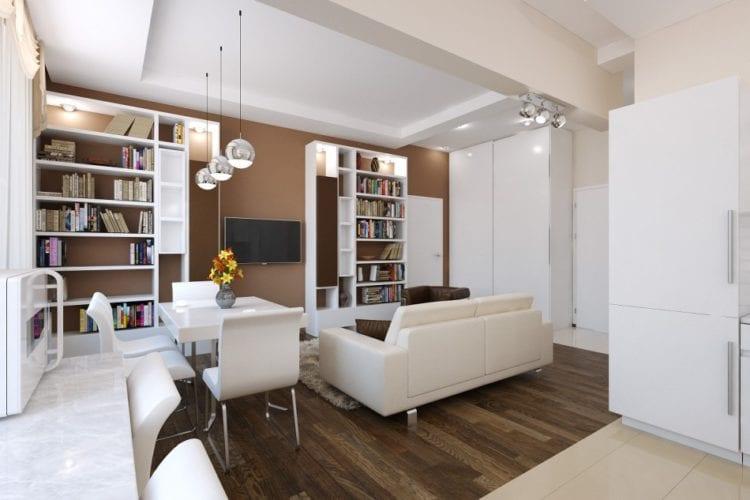 Выбор и размещение мебели в гостиной 20 кв. м