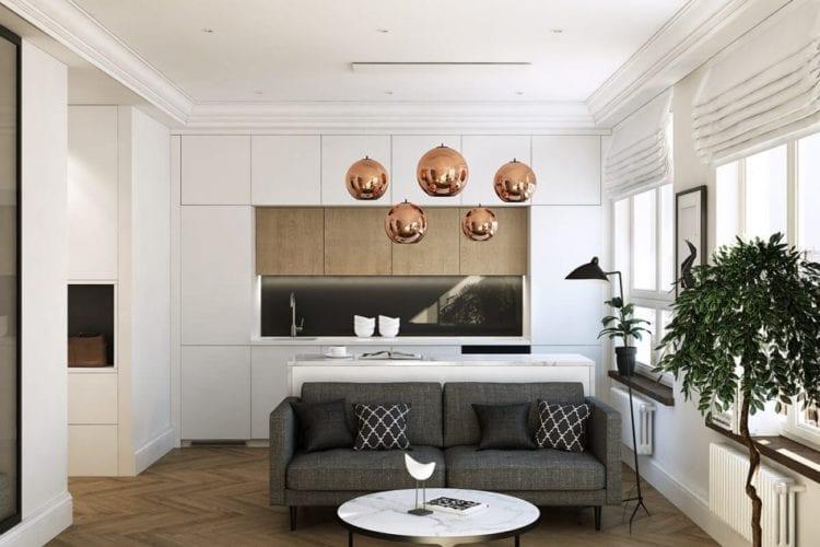 Интерьер гостиной площадью 20 кв. м в современном стиле