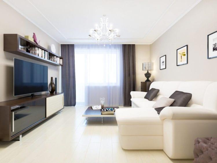 Подбор мебели для гостиной 18 кв. м
