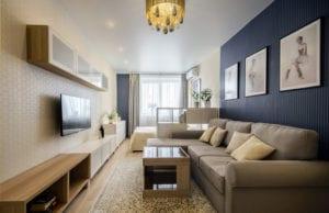 Дизайн комнаты площадью 17 кв. м: оформление спальни и гостиной в одном помещении