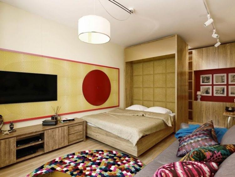 Гостиная-спальня 19 кв м