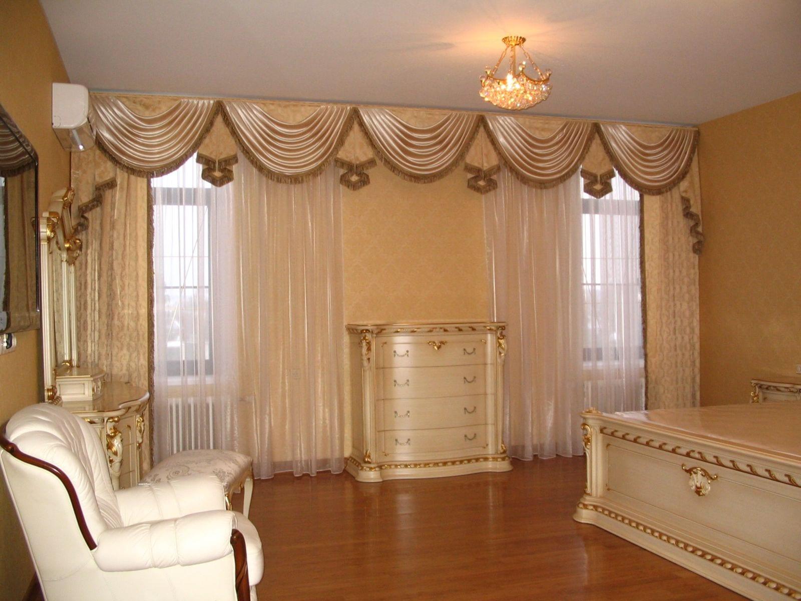 Ламбрекены для зала и гостиной