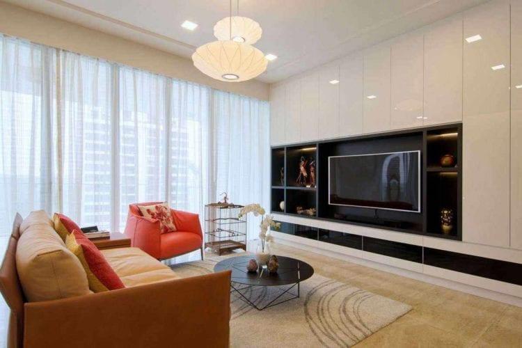 Дизайн гостиной в 18 кв. м в современном стиле