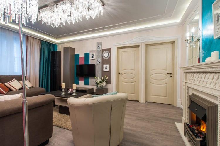 Дизайн гостиной комнаты в 19 кв. м